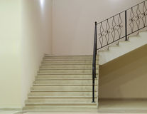 Empty white room with stairs Royalty Free Stock Image