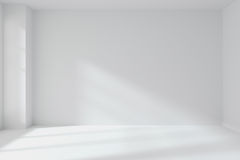 Empty white room wall with corner interior Stock Photography