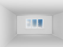 Empty white room with window Stock Image