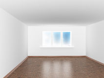 Empty white room with window Royalty Free Stock Photos