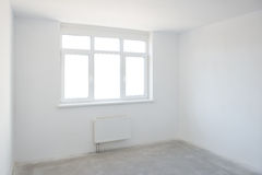 Empty white room Royalty Free Stock Images
