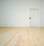 Empty White Room With Door Royalty Free Stock Photo