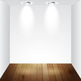 Empty white room Royalty Free Stock Image
