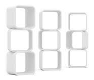 Empty white rounded showcase. Isolated Stock Photography