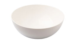 Empty White Salad Bowl III Stock Photo
