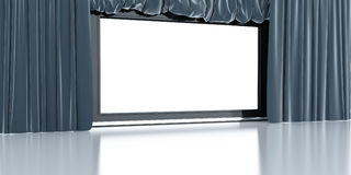 Empty white screen Royalty Free Stock Photo