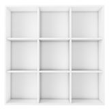 Empty white shelf  on white background. For advertisment text, montages, photos, images, and objects Stock Image