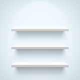 Empty white shelves Royalty Free Stock Photography