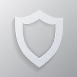 Empty white shield. Stock Images