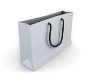 Empty white shopping bag Stock Image