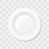 Empty white soup plate. Top view Realistic bowl vector. Royalty Free Stock Photos