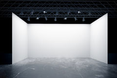 Empty white stage Royalty Free Stock Photo
