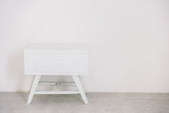 Empty white table. Decoration interior of room - Vintage light Filter royalty free stock photos