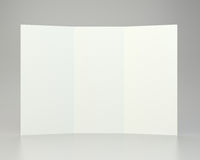 Empty white unfolded A4 paper crumpled. 3d rendering.  Royalty Free Stock Photography