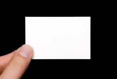 An empty white Visiting Card Stock Photo