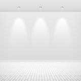 Empty white wall vector illustration