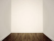 Empty white walls. Empty white wall and floor Royalty Free Stock Images