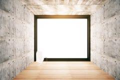 Empty white window Royalty Free Stock Photos