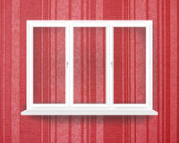 Empty white window isolated on the redish walipaper Royalty Free Stock Photo
