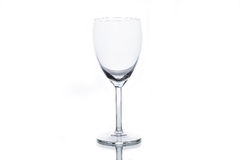 Empty white wine glass Stock Photography