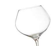 Empty white wine into a glass with space for text Royalty Free Stock Images