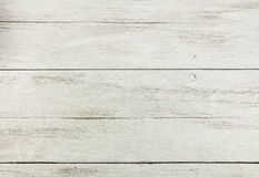 Empty white wood table . Wood background - table with wooden wall Royalty Free Stock Image