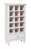 Empty white wooden bookcase over white Royalty Free Stock Photo