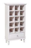Empty white wooden bookcase over white Royalty Free Stock Photo