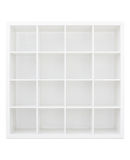 Empty white wooden bookshelf Royalty Free Stock Photo