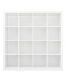 Empty white wooden bookshelf Royalty Free Stock Photo