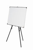 Empty whiteboard on black tripod Royalty Free Stock Photography