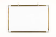 Empty whiteboard Stock Photography