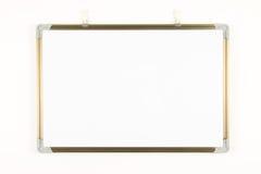 Empty whiteboard Stock Photography