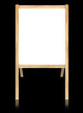 Empty whiteboard with wooden frame. Isolate on black background Vector Illustration