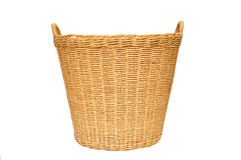 Empty wicker baske Royalty Free Stock Photography