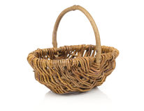 Empty wicker baske Royalty Free Stock Photo