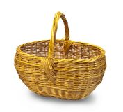 Empty wicker basket Royalty Free Stock Photo
