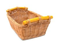 Empty wicker basket Royalty Free Stock Image