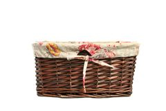 Empty wicker basket Stock Photo