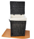Empty wicker basket. Royalty Free Stock Images