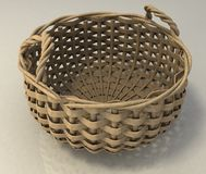 Empty Wicker Basket Stock Photo