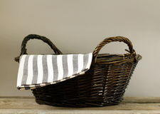 An empty wicker basket Stock Photography