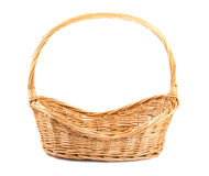 Empty wicker basket. On white background Royalty Free Stock Images