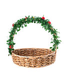 Empty wicker basket. Stock Images