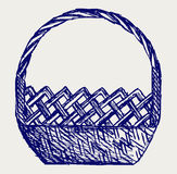Empty wicker basket Stock Image