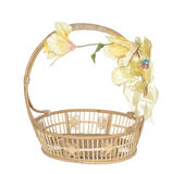 Empty wicker basket. Royalty Free Stock Photo