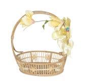 Empty wicker basket. Royalty Free Stock Photo