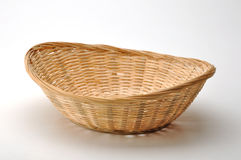 Empty wicker basket for bread Royalty Free Stock Images
