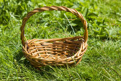 An empty wicker basket Royalty Free Stock Photo
