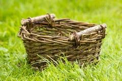 An empty wicker basket Royalty Free Stock Image